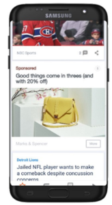 Native Advertising In feed